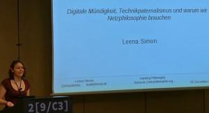 Leena Simon: Vortrag auf dem 29C§